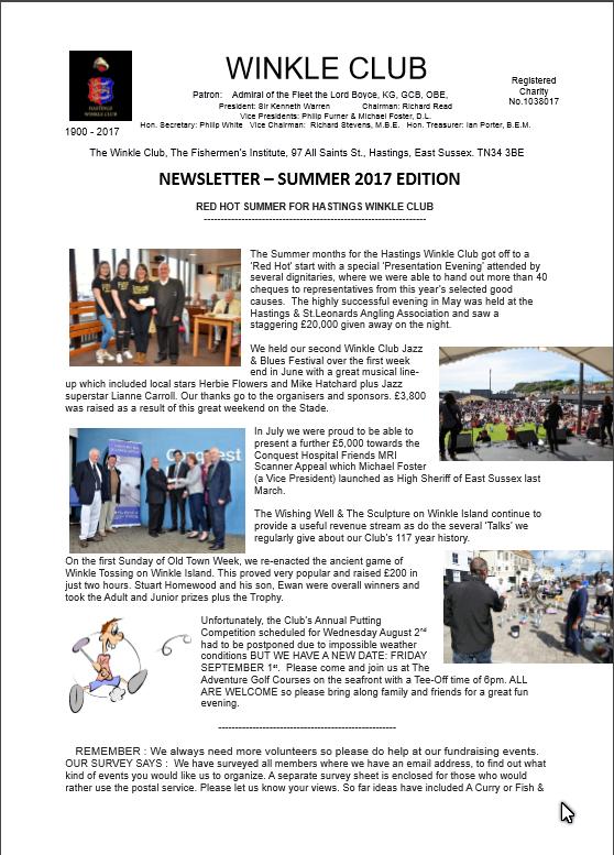 newsletter hastings winkle club